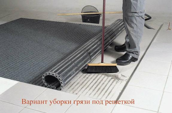Монтаж систем грязезащиты